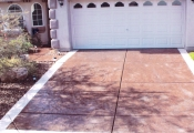 concrete stamping driveway