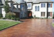 stained concrete drivewaysan diego