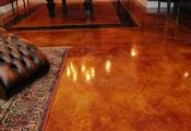 acid stain interior floor san diego
