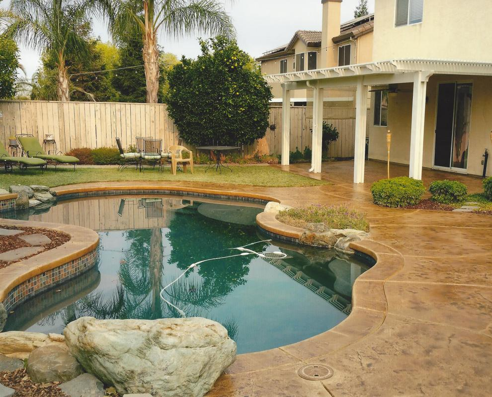 stamped concrete pool deck san diego ca