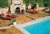concrete stamping pool deck