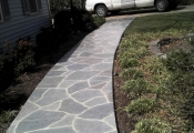 decorative concrete walkway san diego