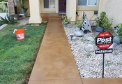 stained concrete walkway san diego