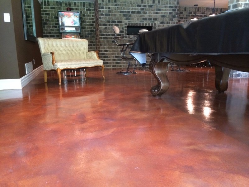 stained concrete cost