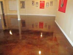 Rancho Penasquitos, CA Stained Floor