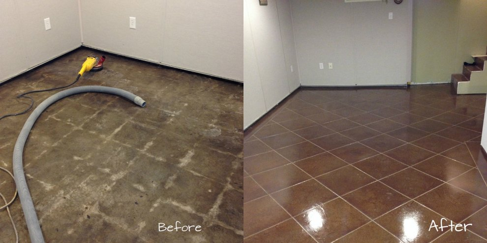 acid stained concrete