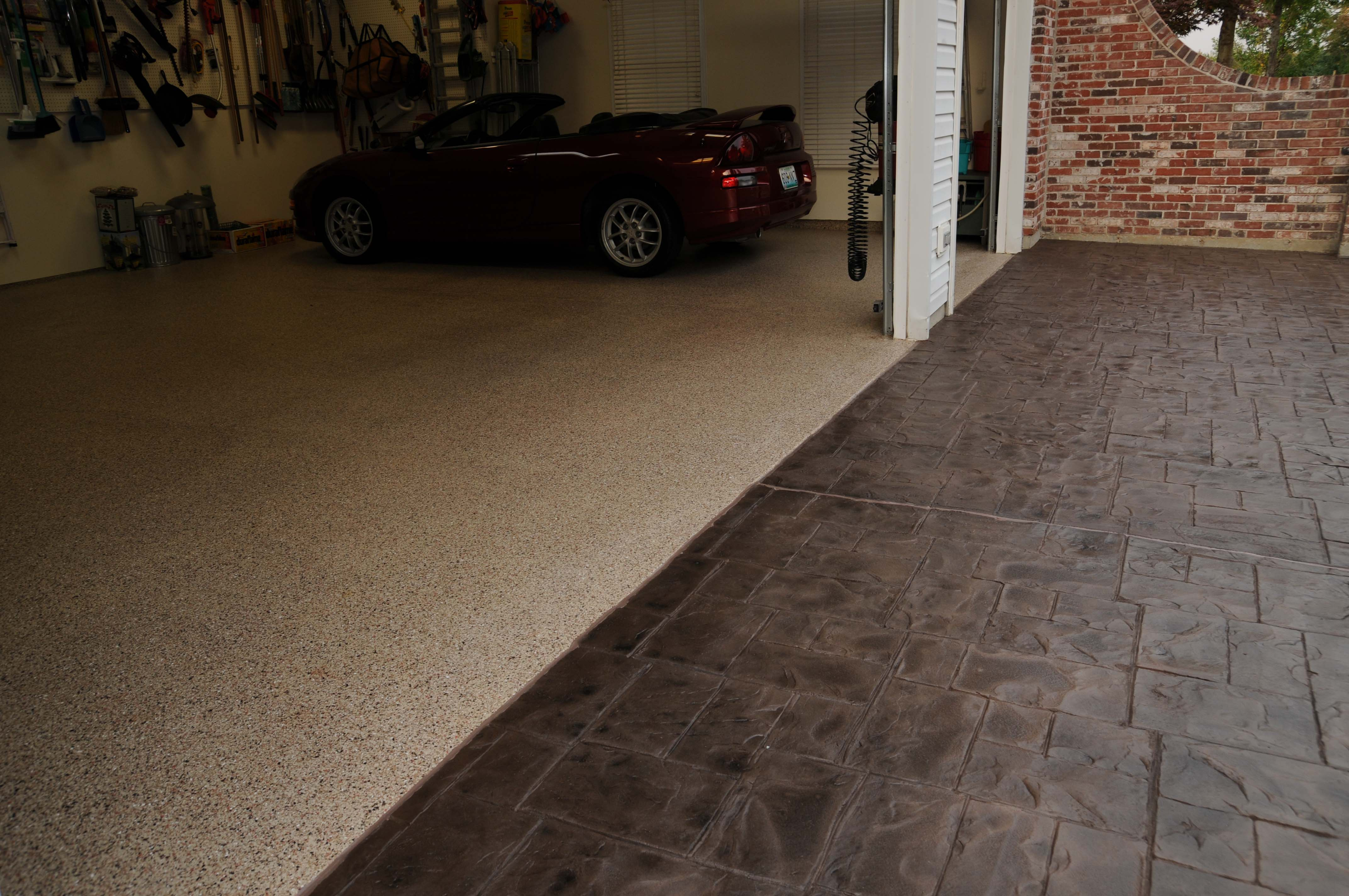 Concrete Garage Floor : Decorative concrete san marcos ca stained stamped