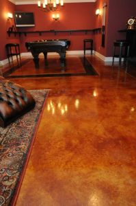 San Marcos, CA Stained Concrete