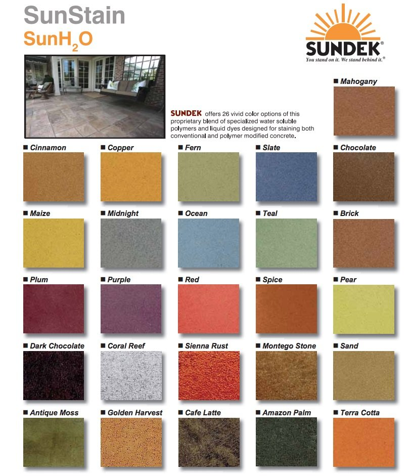 Water Based Stain Colors In San Diego Ca 619 443 2318