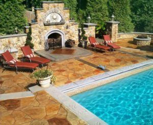 stamped concrete pool deck san diego