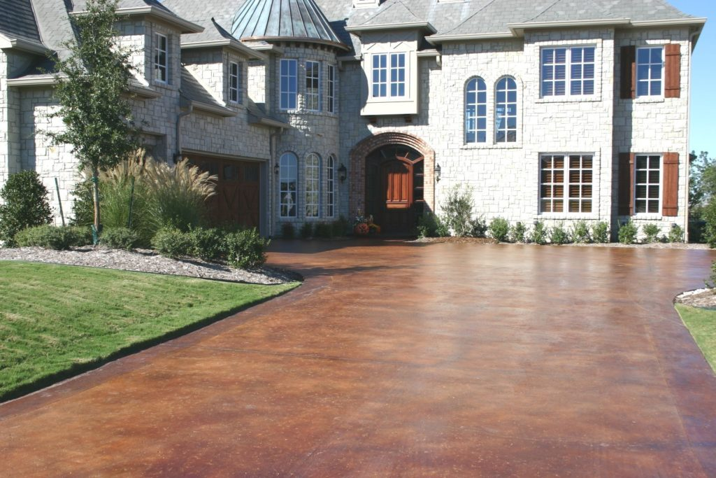 stained concrete driveway san diego