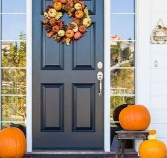 halloween doorpost wreath