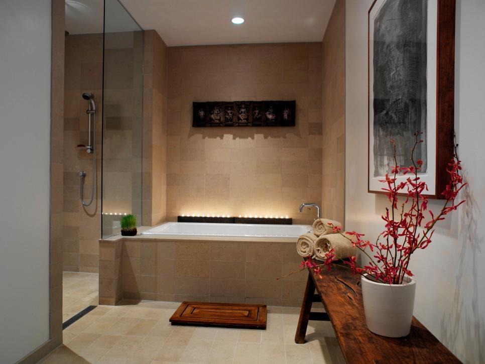 spa bathroom at home